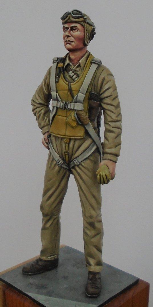 US Navy/Marine Pilot WW2 1/24 scale (75mm)