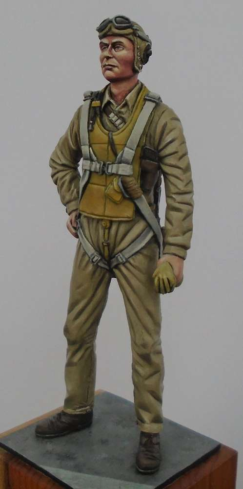 US Navy/Marine Pilot WW2 1/24 scale (75mm)