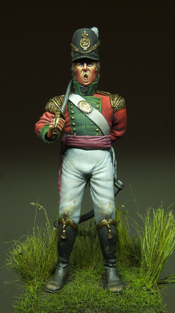 'Stand Firm!' British Light Infantry Officer 1815