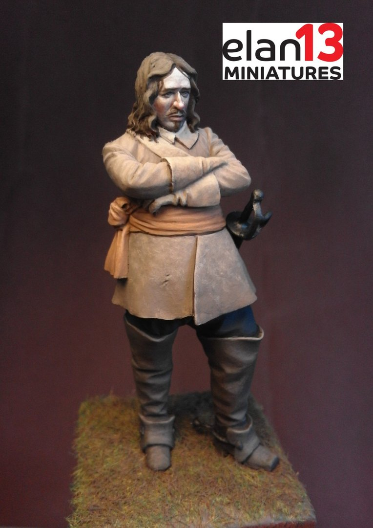 Oliver Cromwell 65mm sculpted by Mike Blank