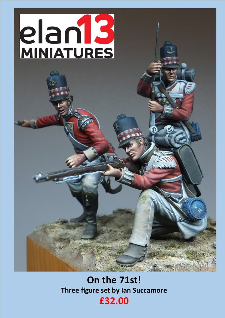 Currently out of stock On the 71st! Three figure vignette: 54mm Officer & 2 privates 71st regt