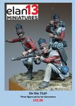 On the 71st! Three figure vignette: 54mm Officer and 2 privates 71st regt
