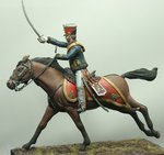 Mounted Officer British 10th Hussars 1815